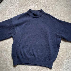 H&M Navy Blue mock neck sweater